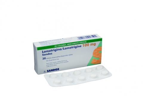 Lamotrigina 100 Mg Caja Con 30 Tabletas