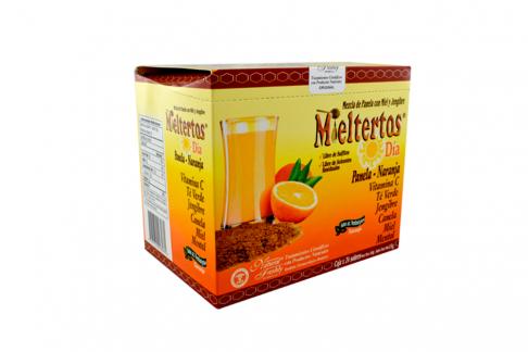 Mieltertos Día Panela Naranja Caja Con 24 Sobres Con 15 g C/U