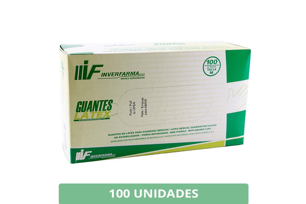 Guante Desechable No Estéril Inverfarma Talla M Caja Con 100 Unidades