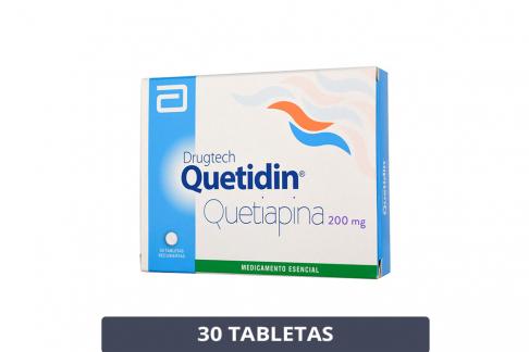 Drugtech Quetidin 200 mg Caja Con 30 Tabletas Rx1 Rx4