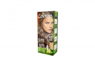 Coloriss Tinte Permanente Caja Con Tubo Con 50 g - Color Rubio Nacarado Cenizo 9.21