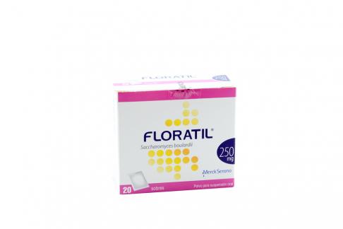 Floratil 250 mg En Polvo Caja Con 20 Sobres