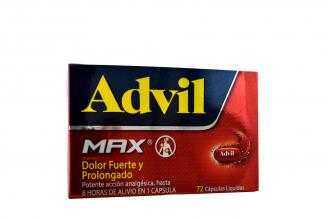 Advil Max Caja Con 72 Cápsulas Líquidas