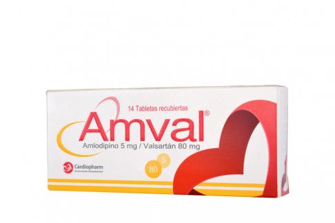 Amval 5 / 80 mg Caja Con 14 Tabletas  Rx