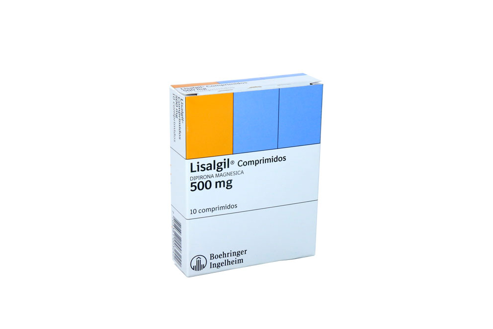 Lisalgil 500 mg Caja Con 10 Comprimidos Rx