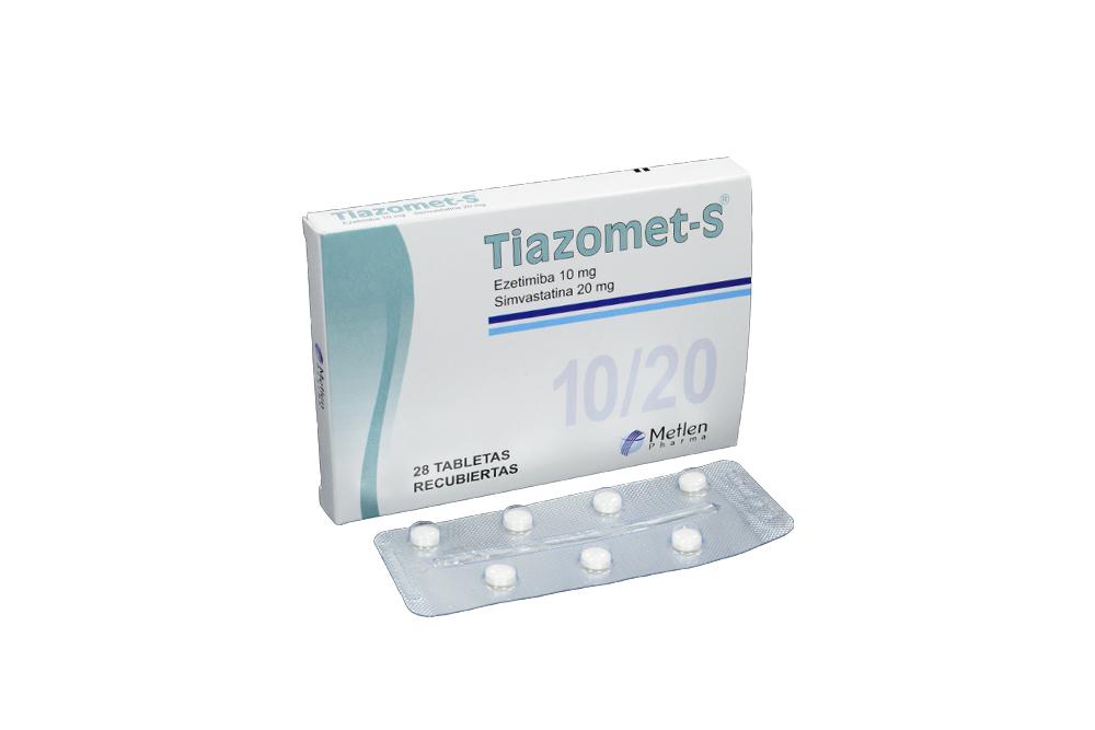 Tiazomet-S 10 / 20 mg Caja Con 28 Tabletas Recubiertas Rx