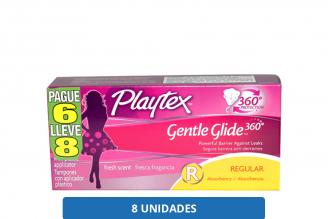 Tampones Playtex Regular Paque 6 Lleve 8 Caja Con 8 Unidades