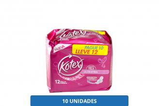 Toallas Kotex Cubierta Tela Ultrafina Empaque Con 12 Unidades