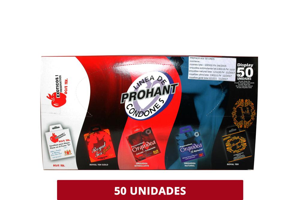 Preservativos Surtidos Exóticos Caja Con 50 Unidades