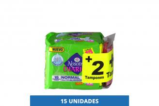 Protectores Nosotras Diarios Normal Paquete Con 15 Unidades