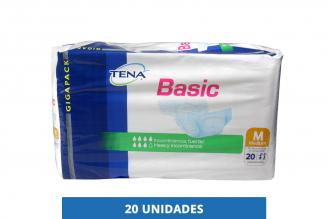 Pañal Tena Basic Medium Gigapack Empaque Con 20 Unidades