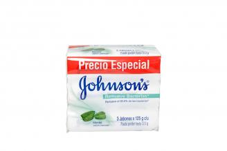 Jabón Johnson´s Baby Mentol Empaque Con 3 Unidades Con 125 g