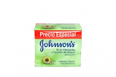 Jabón Johnson's Manzanilla Empaque Con 3 Unidades Con 125 g