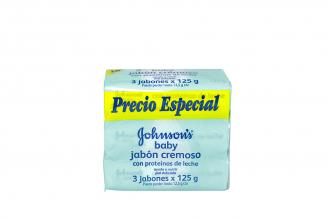 Jabon Johnson's Baby Empaque Con 3 Unidades Con 125 g - Proteína De Leche