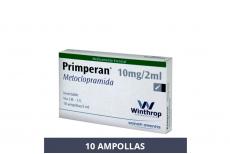 PRIMPERAN METOCLOPRAMIDA 10 MG / 2 ML X 10 AMPOLLAS Rx