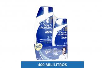 Head & Shoulders Shampoo 3 En 1 Frasco Con 400 mL – Contra La Caspa