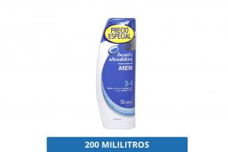 Head & Shoulders Shampoo Hombre Control Caspa Frasco Con 200 mL