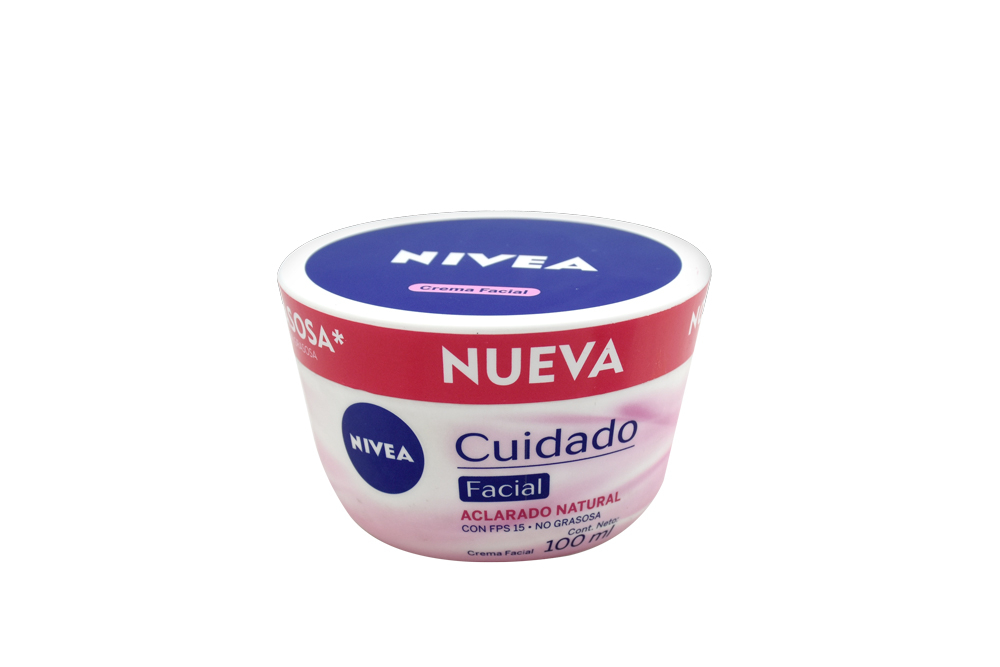 Crema Nivea Cuidado Facial Aclarado Natural Frasco Con 100 mL