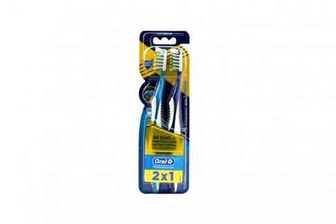 Cepillo Dental Oral B Pro-Salud Antibacterial Suave Empaque Con 2 Unidades