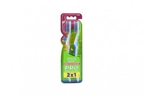 Cepillo Dental Oral B Pro Doble Acción Limpieza Tradicional 900 Duro Empaque Con 2 Unidades