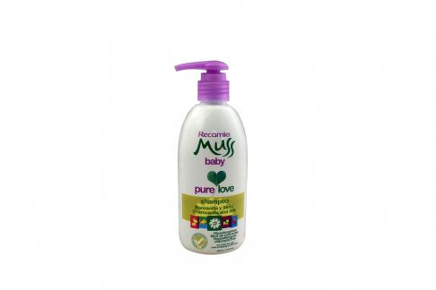 Shampoo Muss Baby Manzanilla Y Seda Frasco Con 400 mL