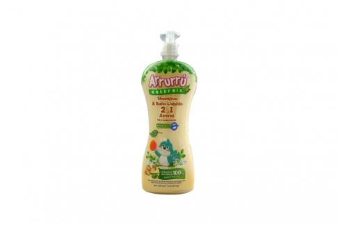 Shampoo Arrurrú Baño Líquido Avena Frasco Con 800 mL