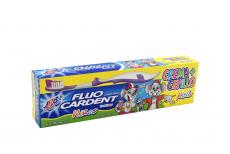 Crema Dental Fluo Cardent Niños Gratis Cepillo Diamante Caja Con Tubo Con 75 g