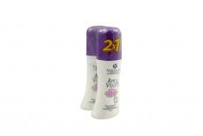 Desodorante April Violets Empaque Con 2 Roll On Con 65 mL C/U