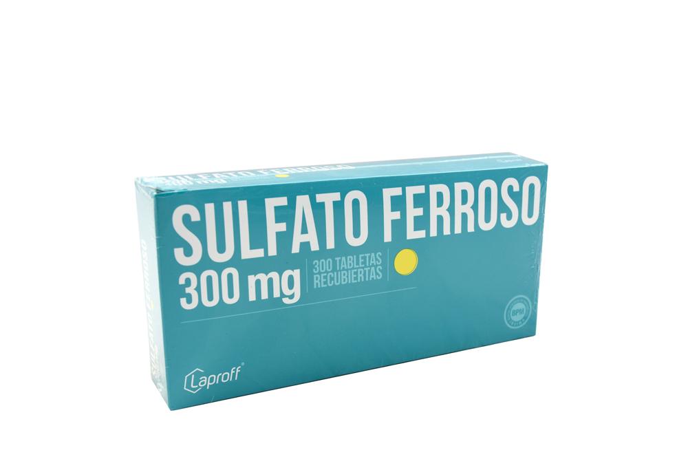 Sulfato Ferroso 300 mg Caja Con 300 Tabletas Rx