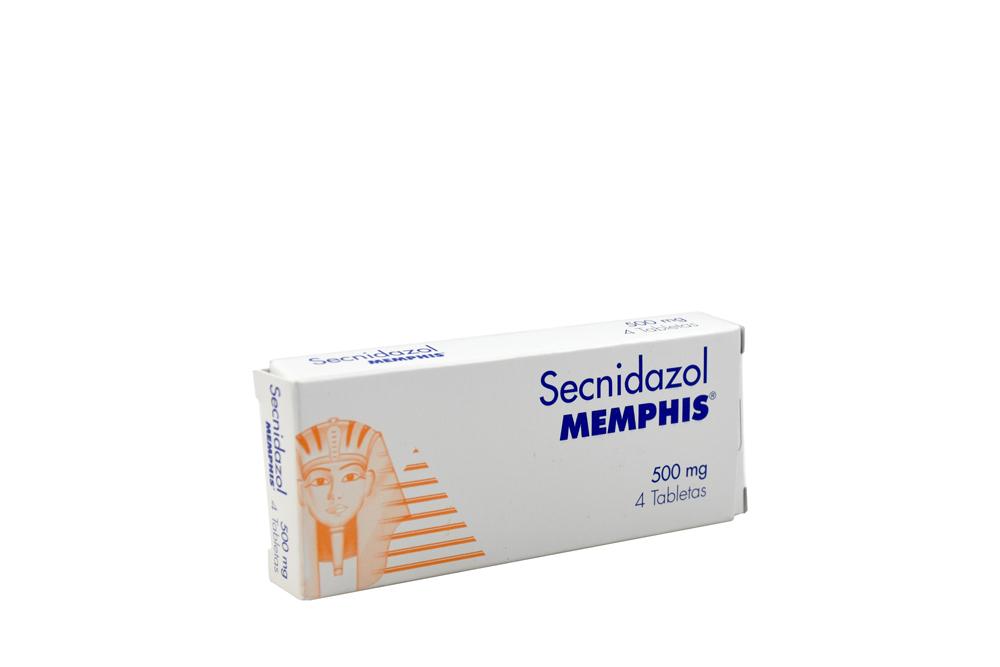 Secnidazol Memphis 500 mg Caja Con 4 Tabletas Rx