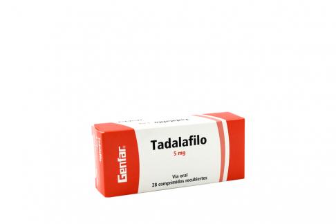 Tadalafilo 5 Mg Caja x 28 Tabletas RX