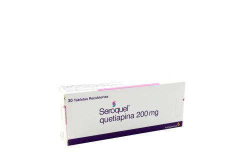Seroquel 200 mg Caja Con 30 Tabletas Recubiertas Rx4 Rx1