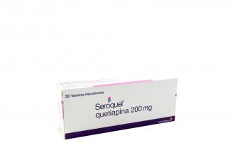 Seroquel 200 mg Caja Con 30 Comprimidos Recubiertos Rx4 RX1
