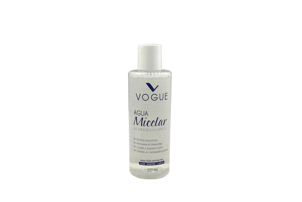 Agua Micelar Desmaquillante Vogue Frasco Con 200 mL