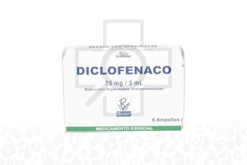 Diclofenaco  75 mg / 3 mL Inyectable X 6 Ampollas