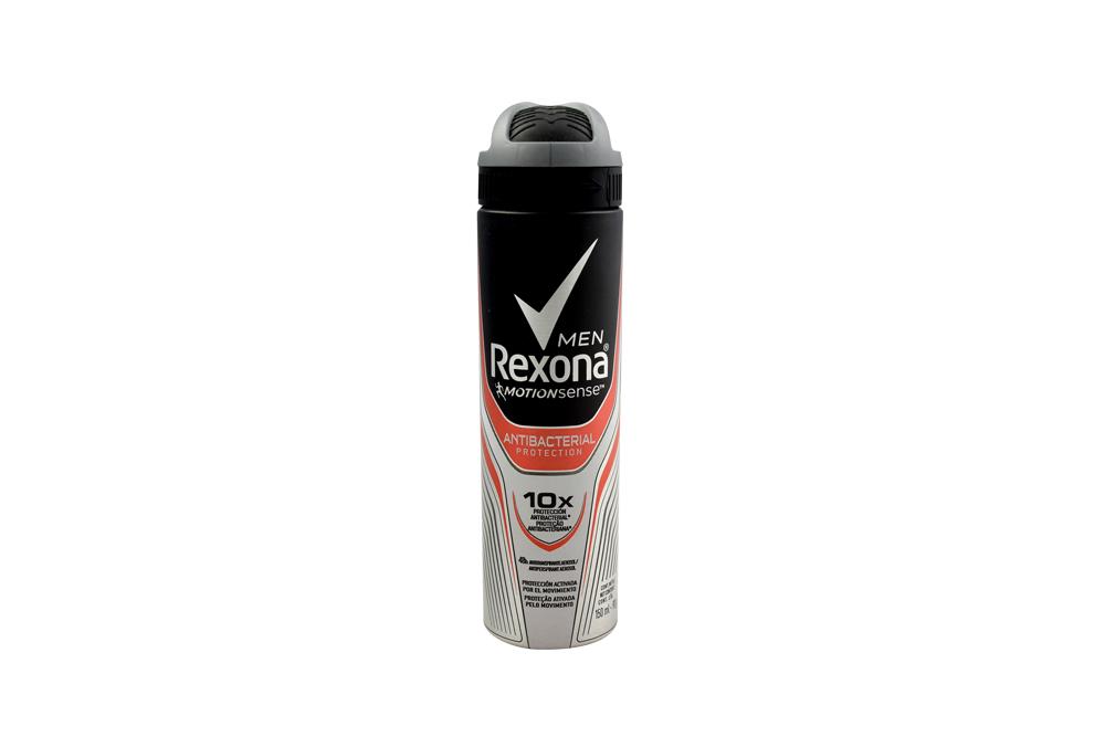 Desodorante Rexona Men Antibacterial Aerosol Con 150 mL