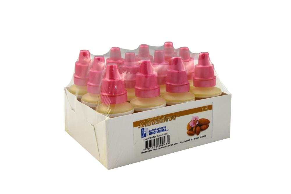 Aceite De Almendras Drofarma Empaque Con 12 Unidades Con 20 mL