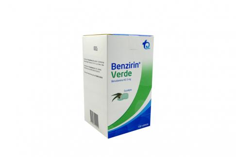 Benzirin 3 mg Verde Caja Con 100 Tabletas