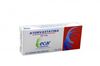 Atorvastatina 20 mg Caja Con 10 Tabletas Rx