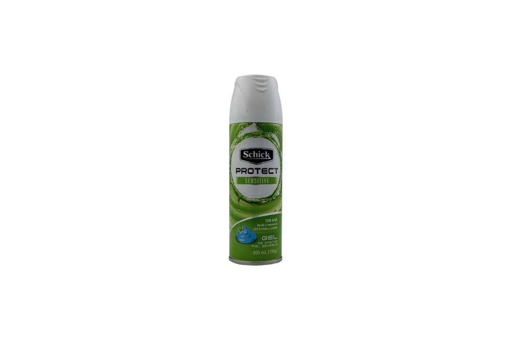 Gel Para Afeitar Schick Protect Sensitive Frasco Con 200 mL