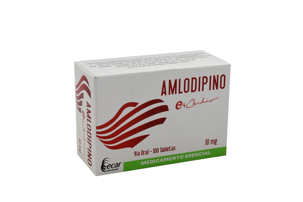Amlodipino Besilato 10 mg Caja Con 100 Tabletas Rx4