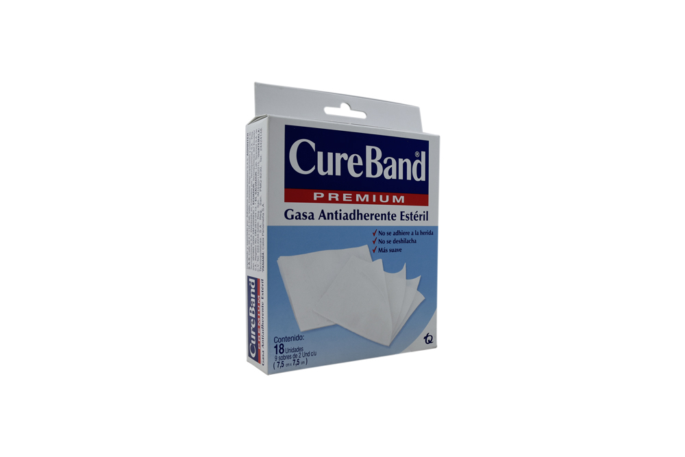Gasa Cureband Premium Estéril Caja Con 9 Sobres