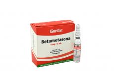 Betametasona Inyectable 8 mg/ 2 mL Caja Con 10 Ampollas Rx