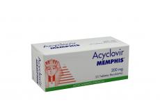 Acyclovir 200 mg Caja Con 25 Tabletas Rx