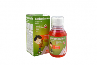 Acetaminofen 3% Jarabe Pediátrico Caja Con Frasco Con 120 mL - Sabor Cereza