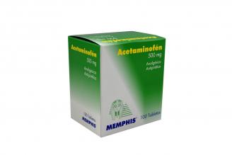 Aceminofén 500 mg Memphis Caja Con 100 Tabletas