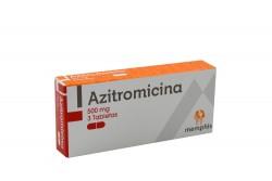 Azitromicina Memphis 500 mg Caja Con 3 Tabletas Rx