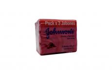 Jabon Johnson's Rosas Sándalo Paquete Con 3 Barras Con 125 g C/U