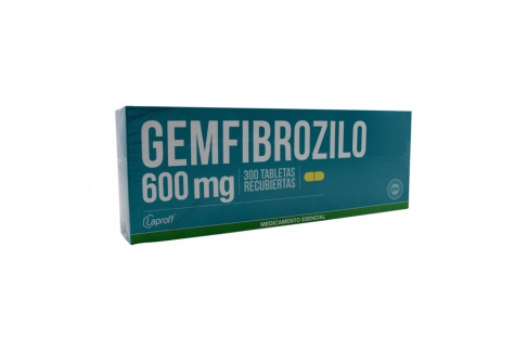 Gemfibrozilo 600 mg Caja Con 300 Tabletas Rx