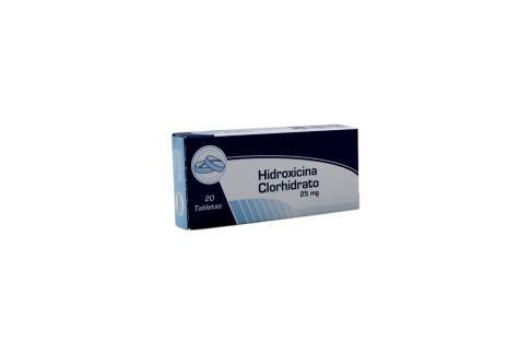 Hidroxicina Clorhidrato 25 mg Caja Con 20 Tabletas Rx